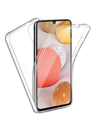 MobilCadde Mobil Cadde Şeffaf Eiroo Protection Samsung Galaxy A72 360 Derece Koruma Şeffaf Silikon Telefon Kılıfı Renksiz